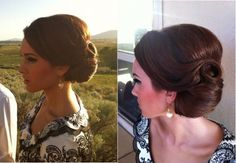 What's the Difference Between a Bun and a Chignon? - How to Do a Chignon Bun – Easy Chignon Hair Tutorial - The Trending Hairstyle Vintage Updo, Vintage Hairstyles, Up Hairstyles, Pretty Hairstyles, Straight Hairstyles, Retro Updo, Retro Hair, Vintage Bridesmaid Hairstyles, Vintage Bridal
