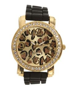 Leopard printed watch