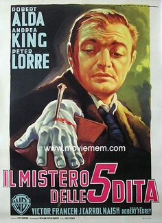The Beast With Five Fingers (1946) is a solid, spooky film with Peter Lorre at his brooding best. The disembodied hand of a murdered pianist seems to be stalking the killer. Is it real? Or is it madness?