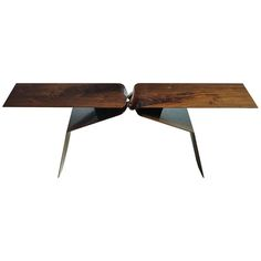 Selected by Kristen McGinnis: Sculptural Hand Carved Walnut Coffee Table by Carol Egan | From a unique collection of antique and modern coffee and cocktail tables at http://www.1stdibs.com/furniture/tables/coffee-tables-cocktail-tables/