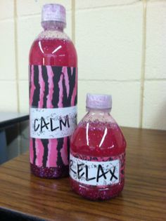 Calming Glitter Water Bottle Relaxation Tools