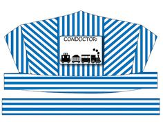 DIGITAL DOWNLOAD Train Conductor's Hat Printable