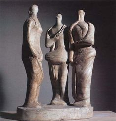 Three Standing Figures 1945 (LH 258) - Henry Moore, Perry Green - Henry Moore: War and Utility, Imperial War Museum