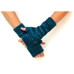 Electric Mitts Womens Hand Knit 100% Merino Wool Fingerless Gloves... ($45) ❤ liked on Polyvore featuring accessories, gloves, mitt glove, merino wool gloves, fingerless mitts, fingerless gloves and hand knitted gloves