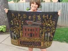 Beautiful rug hooked by doolie42 on ebay.  Pattern from Spruce Ridge.  Adaptation of Lori Brechlin's artwork.