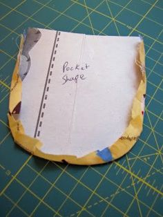 how to sew a rounded pocket using a cardboard shape