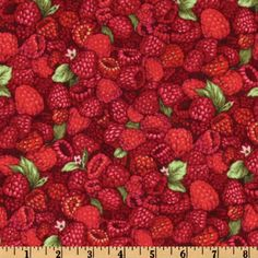 Farmer John's Marketplace II Raspberries Red/Pink from @fabricdotcom  Designed by Paintbrush Studios for Fabri-Quilt, this cotton print fabric features raspberries and is perfect for quilting, home décor accents, craft projects and apparel. Colors include red, burgundy and pink.