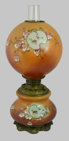 .Oil Lamp-- Not at all like my Grammy's lamp in color or design. But, oh so pretty.