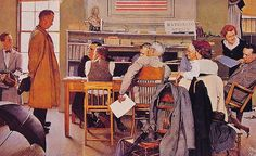 1944 - ration board - Norman Rockwell