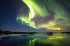 Embedded image permalink -  Aku Eronen @aku_ero  ·  Nov 12  fire in the sky - Northern lights, Aurora #nature #landscape - photo by Visit Finland