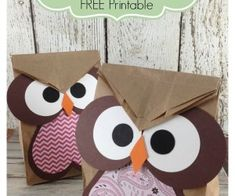 Owl Crafts Easy Treat Bag that are perfect for Valentine's Day!  Look at the upside down heart on their belly!  How cute is that?!!!