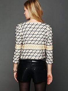 Crossed Paths Beaded Jacket