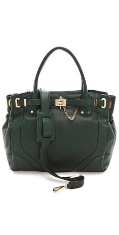 Rachel Zoe Zoe Tote Deux In Emerald Green - perfect way to add Pantone color of the year to your wardrobe