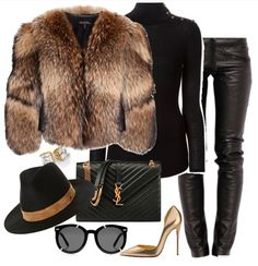 A fashion look from February 2016 featuring Balmain sweaters, Adrienne Landau coats and Preen pants. Browse and shop related looks. Lila Outfits, Classy Outfits, Stylish Outfits, Fashion Outfits, Womens Fashion, Fashion Tips, Fall Winter Outfits, Autumn Winter Fashion, I Love Fashion
