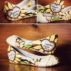 Figgie hand painted wedding day flats!