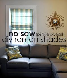 Ducklings In A Row - Hair + DIY Tutorials: INSTRUCTIONS: No-Sew (Pinkie Swear!) Roman Shades