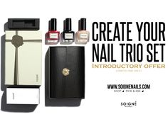 Create your own nail polish collection in an iconic Soigné gift box plus incredible savings and Free UK delivery! Limited time offer only! #soigne #introductory #offer #5free #botanical #nailpolish