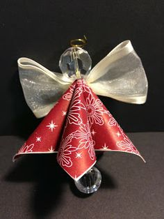 Folded Designer Series Paper Angel Ornament Stampin' Up! Christmas Ornament Paper Crafting Christmas Tree Decorations Handmade Ornaments