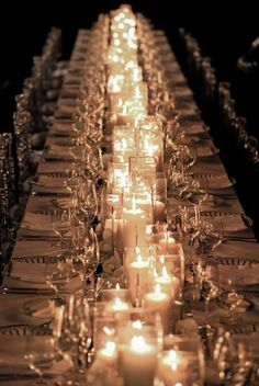 Sophisticated Wedding Reception Idea with candles|PORTUGAL WHITE WEDDINGS