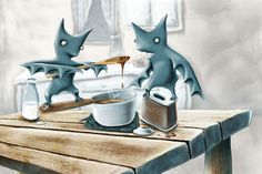"""Hot Cocoa"" by Nora Thompson Cocoa, Illustrations, Writing, Hot, Artwork, Kids, Design, Toddlers, Work Of Art"
