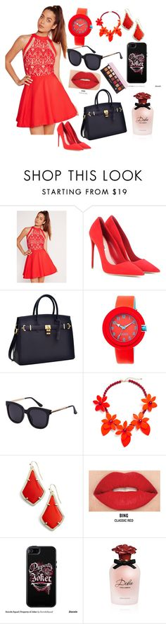 """Untitled #78"" by bosniamode ❤ liked on Polyvore featuring Missguided, Miu Miu, Target, Kendra Scott, Smashbox, OtterBox, Dolce&Gabbana and Anastasia Beverly Hills"