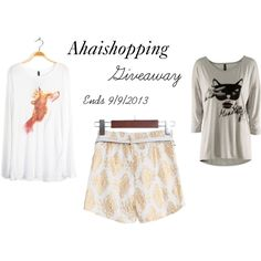 Ahaishopping Giveaway. Enter to #win #free clothes from Ahaishopping.com. Giveaway ends 9/9/2013
