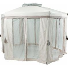12' Hex Pop-up Gazebo by Pacific Casual Jgz. $217.36. Easy assembly - no tools required. The flexible design of this diagonal hexagon patio portable gazebo makes it ready to Get Up & Go. 12' hex pop-up gazebo. Features include a double vented roof, awning style border valance, inside valance, all-around mosqu. Made of steel upper construction with aluminum posts and bullet pin mechanism make sturdy and light. 12 Portable diagonal Hexagon Pop-Up GazeboThe flexib...