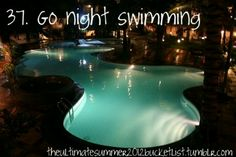 The Ultimate Summer Bucket List Summer Bucket List For Teens, Summer Fun, Teen Bucket List, Summer Ideas, Night Swimming, Swimming Pools, Bucket List Tumblr, Best Friend Bucket List, Luxury Pools