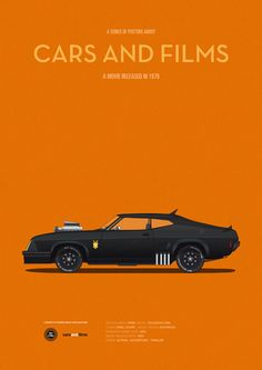 Mad Max (1979) ~ Minimal Movie Poster by Jesus Prudencio ~ Cars and Films Series
