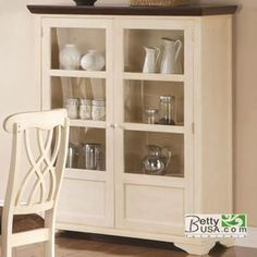 Addison 2-Door Display Curio with Glass and Wood Panel Storage Spaces