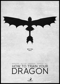 Minimal Movie Posters — How To Train Your Dragon by Mads Hindhede...