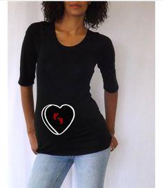Valentines maternity Shirt conversation heart by DJammarMaternity, $26.00