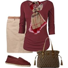 Burgandy Kacki and a hint of Olive. Good color scheme for fall