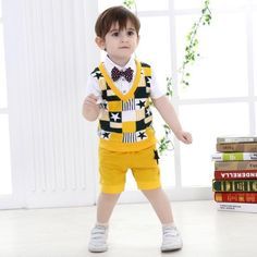 Cute Baby Boys Clothes Boys Clothing Sets Boys Gentleman Outfits Western Fashion Stars Patchwork Tops And Shorts 0-4T from Smartmart,$11.44 | DHgate.com