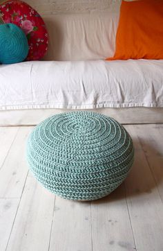 I want to crochet one of these for Calissa's room but make it a cupcake that's large enough to stuff with stuffed animal. cuteness, decor, seating, and storage.