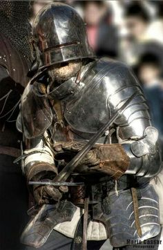 """""""Reenactment: Medieval - The knight time"""" Medieval Knight, Medieval Armor, Medieval Fantasy, Armadura Medieval, Knight In Shining Armor, Knight Armor, Larp, Armor Clothing, Landsknecht"""