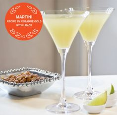 2013 SUPER BOWL RECIPES -  APPLE-GINGER-PEAR MARTINIS by Rozanne Gold | #lenox