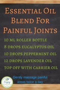 Powerful Essential Oils Blend For Painful Joints #EssentialOilBlends #LavenderEssentialOil