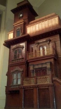 VICTORIAN GOTHIC DOLL HOUSE This would be great as a haunted house