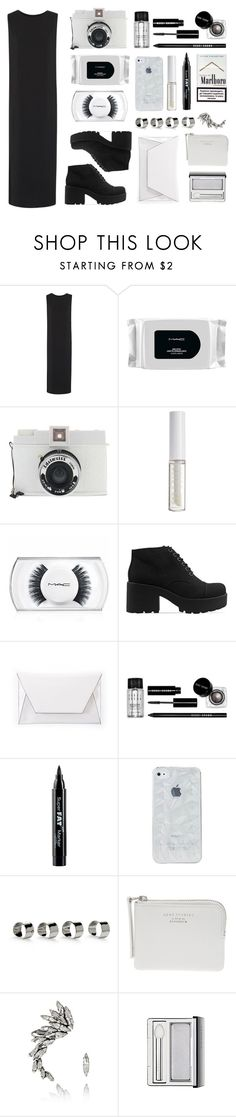 """""""Black n white ftw"""" by baludna ❤ liked on Polyvore featuring Helmut Lang, MAC Cosmetics, Lomography, Lord & Berry, Vagabond, Bobbi Brown Cosmetics, NYX, Maison Margiela, Acne Studios and Ryan Storer"""