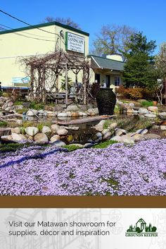 Our showroom is open and we're ready to inspire you with our ponds and gardens. Visit us in Matawan, NJ.