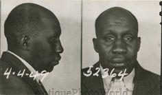 Foto de hombre negro triste antiguo policía mug shot