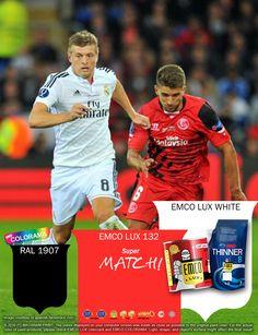 Kawan EMCO, siapapun yang akan memenangkan Piala Super Eropa 2016, tak menjadi soal. Bagi penonton dan penggemar sepak bola senang bila melihat pertandingan yang sehat dan profesional dengan semangat yang membara. Terinspirasi warna-warna logo ke dua team ini, warnai hunian Anda dengan warna EMCO LUX 132, EMCO LUX WHITE dan RAL 1907 pada palet EMCO. Untuk artikel menarik lainnya Anda bisa melihat di http://matarampaint.com/news.php.