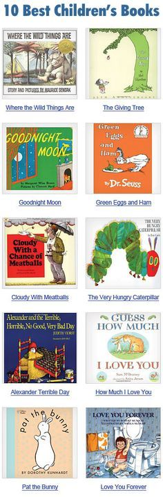 Top 100 Childhood books - We've made a good dent in this list but definitely still need to add Strega Nona, Bluberries for Sal, The Rainbow Fish, The Little House, The Big Hungry Bear and Stone Soup to our collection