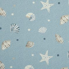 Sea Shells Curtain Fabric
