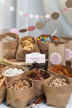 Woodland Baby Shower Trail Mix Snack Idea