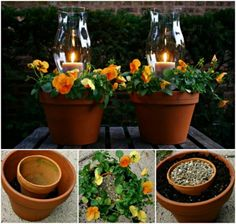 Terracotta Candle Planters Tutorial