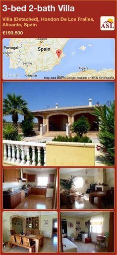 3-bed 2-bath Villa in Villa (Detached), Hondon De Los Frailes, Alicante, Spain ►€199,500 #PropertyForSaleInSpain