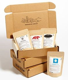 Bean Box Gourmet Coffee Sampler  3Month Gift Subscription  fresh roasted coffee gift box specialty whole bean 4 roasts every month Christmas gift holiday gift *** BEST VALUE BUY on Amazon #GourmetCoffee