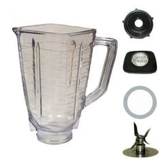 5 cup square top Plastic jar fits most Oster and Osterizers. Fits all Oster Kitchen Centers. Fits Oster Blenders that have the little square pin on top of the motor. Mini Blender, Blenders & Juicers, Best Blenders, Glass Jars, Mason Jars, Oster Blender, Smoothie Blender, Smoothie Recipes, Make Up